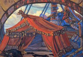 Nikolai Konstantinow Roerich: Tristan und Isolde, BŸhnenbildentwurf zum 1. Akt (Tristans Schiff)