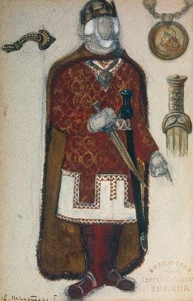 Nikolai Konstantinow Roerich: Tristan und Isolde, Figurine des Königs Marke