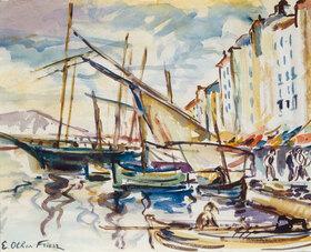 Emile Othon Friesz: Port de Toulon, ca. 1925?