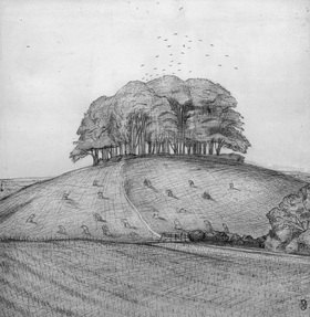 Paul Nash: The Wood on the Hill (Der Wald auf dem Hügel)