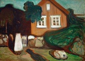 Edvard Munch: Haus im Mondschein