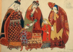 Nikolai Konstantinow Roerich: Borodin, Fürst Igor, Figurinen