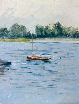 Gustave Caillebotte: Bateau au mouillage sur la Seine