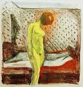 Edvard Munch: Weinende junge Frau am Bett