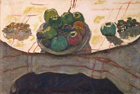 Pierre Bonnard: Stilleben; Teller und Früchte oder Pfirsichschale