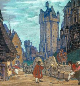 Nikolai Konstantinow Roerich: Vor dem Schloss