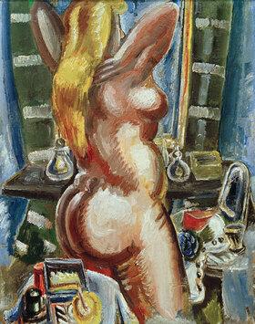 Paul Kleinschmidt: Stehender Akt vor dem Spiegel