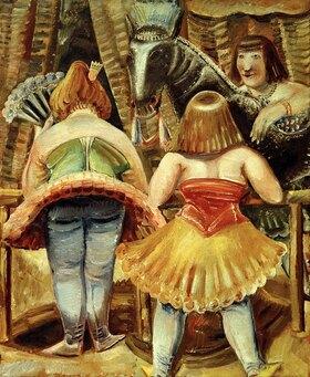 Paul Kleinschmidt: Zirkuspferd mit drei Frauen