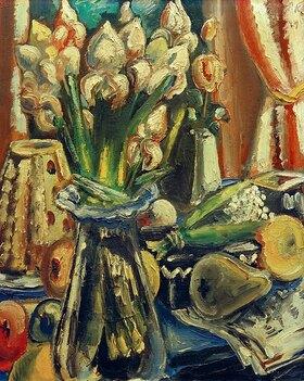 Paul Kleinschmidt: Still life with a bouquet of irises