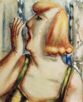 Paul Kleinschmidt: Gähnende Frau
