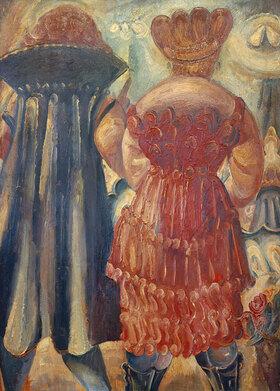 Paul Kleinschmidt: Stehende Frauen von hinten