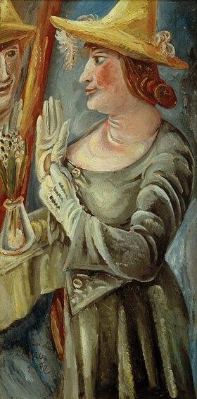 Paul Kleinschmidt: Mrs. K. in front of the mirror