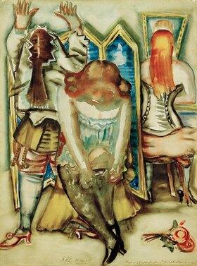 Paul Kleinschmidt: Garderobe der Zirkuskünstlerinnen