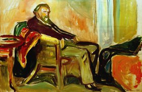 Edvard Munch: Selbstportrait nach InfluenzaMunch, Edvard, Selbstportrait nach Influenza, 1919, Öl auf Leinwand, 60 × 90 cm