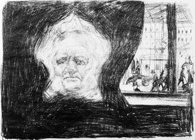 Edvard Munch: Ibsen im Café des Grand Hotel in Christiania