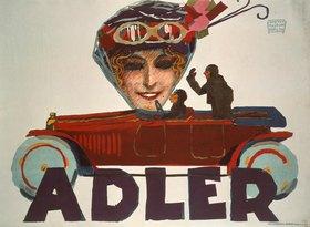 Adler Automobil / Plakat 1914