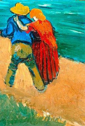 Van Gogh, Vincent 1853?1890.  ?Eglogue En Provence ? Un Couple D? Amoureux?, 1888.  London, Sotheby?s. Lot