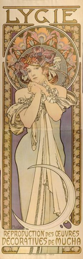 Alfons Mucha: Lygia - Reproduction of the decorative works of Mucha