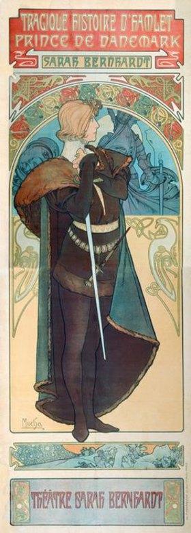 Alfons Mucha: Sarah Bernhardt als Hamlet