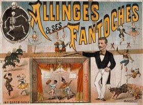Anonym: Marionettentheater / Plakat 19. Jh