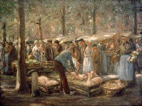 Max Liebermann: Schweinemarkt in Haarlem