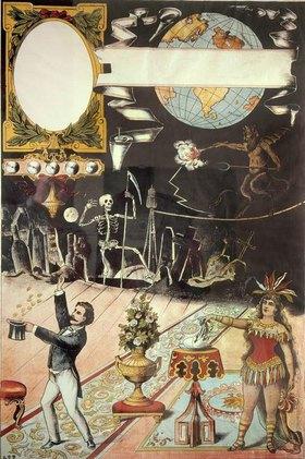 Anonym: Plakat für Zauberkünstler