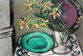 Max Beckmann: Orchideen - Stillleben mit grüner Schale