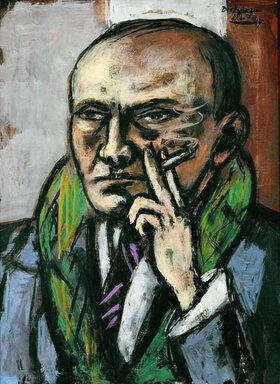 Max Beckmann: Selbstbildnis mit Zigarette