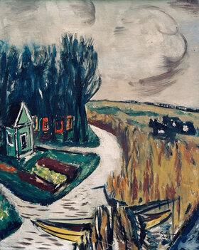 Max Beckmann: Landschaft mit Kühen