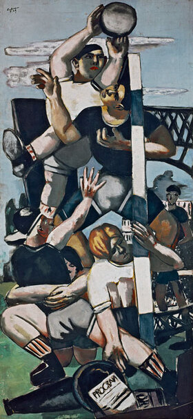 Max Beckmann: Rugbyspieler