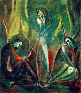 Hermann Stenner: Auferstehung, 1914Öl auf Leinwand, 167 x 143 cm.Privatsammlung