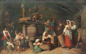 Johann Heinrich Hasselhorst: Römische Weinkelter