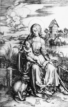 Albrecht Dürer: Mary with the guenon monkey