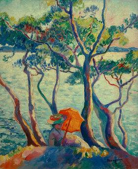 Henri Manguin: Jeanne mit Sonnenschirm, Cavalière