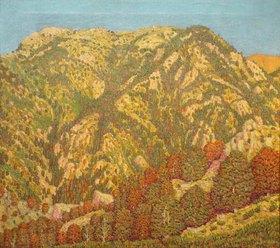 MARIA PIDELASSERRA: Ein Berg. Montseny Sonnenuntergang