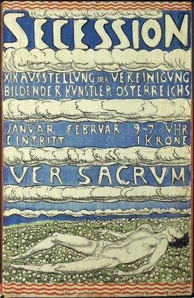 Ferdinand Hodler: Plakat zur 19. Ausstellung der Vereinigung Bildender Künstler Österreichs