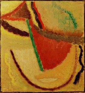 Alexej von Jawlensky: Kopf, 1933 (Abstrakter Kopf / Meditation)