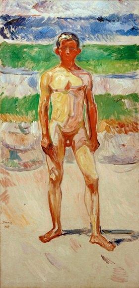 Edvard Munch: Badender Junge