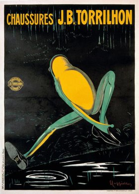 Leonetto Cappiello: Herrenschuhe / Plakat v. L. Cappiello