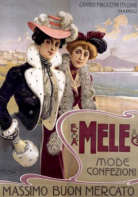 Promotional poster for ladies' fashion of the department store Mele, Naples