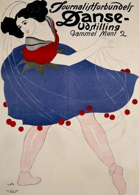 Tanzveranstaltung / Plakat v. V.Andersen