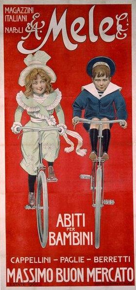 Kindermoden, Kaufhaus Mele / Plakat