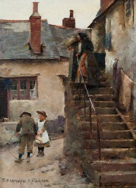 Stanhope Alexander Forbes: CHILDREN IN A NEWLYN STREET