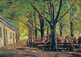 Max Liebermann: Biergarten in Brannenburg