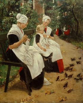 Max Liebermann: Amsterdamer Waisenmädchen im Garten