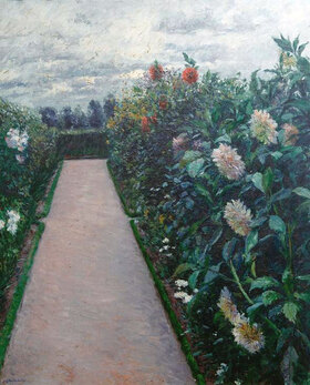Gustave Caillebotte: Allée de jardin et massifs de dahlias, Petit Gennevilliers