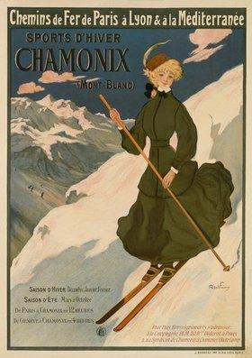 Abel Faivre: SPORTS D'HIVER CHAMONIX (MONT BLANC)