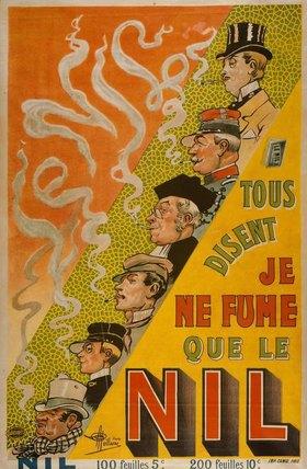 Albert Guillaume: Zigarettenwerbung Nil