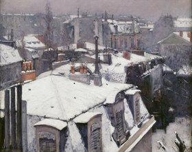 Gustave Caillebotte: Vue de toits (Effet de neige), dit Toits sous la neige