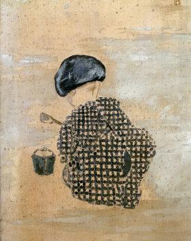 Pierre Bonnard: Kind mit Sandkuchen oder Kind mit Eimer (Ausschnitt)